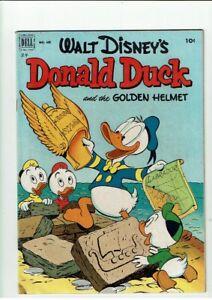 Walt Disney's DONALD DUCK and the GOLDEN HELMET  Dell 408  Fine plus