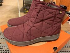Womens BOGS Snowday Low Waterproof Insulated Winter Snow Boot - Wine, Size 9