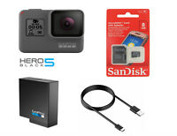 GoPro HERO 5 Black Edition Touch-Screen Action Camera + OEM Battery +8GB SD Card