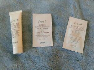 Fresh 3pcs: Soy Face Cleanser, Lotus Youth Preserve Cream & Black Tea Mask New!