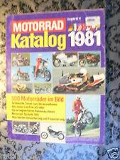 MOTORRAD KATALOG 1981 BIKES GERMAN MARKET,ALL GRAND PRIX RENNMASCHINEN RACE,CROS
