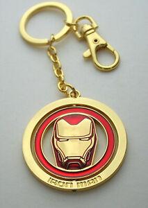 Marvel Comics Iron Man Face Spinner Shield Metal Key Chain New NOS MIP