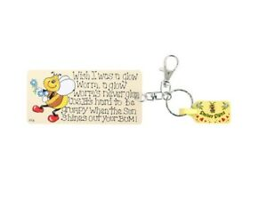 WISH I WAS A GLOW WORM KEYRING Smiley Signs Novelty Funny Key Ring FREE UK P&P