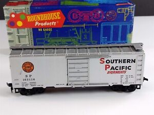 Roundhouse 1071 Southern Pacific 40' Overnights Box Car SP 163116 HO Scale