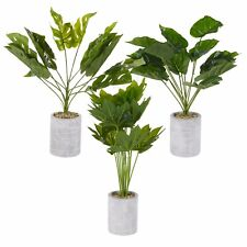 Artificial Green Plant Tree Stone Pot Home Office Tropical Decoration Realistic