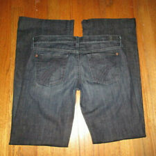"7 FOR ALL MANKIND ""Dojo"" Dark Flare Leg Jeans Sz 30 x 33-1/2 USA"