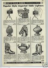 1952 PAPER AD Novelty Table Lighter Pistol Camera Golf Ball Cowboy Boot Zippo