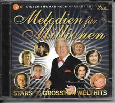 2 CD Dieter Thomas Heck `Melodien für Millionen-Stars singen Welthits` Neu/OVP