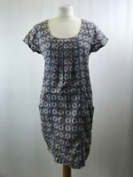 Mistral ladies tunic floral short sleeve round neck cotton size 12 003