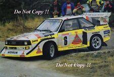 Hannu Mikkola Audi Quattro Sport E2 Monte Carlo Rally 1986 Photograph 3
