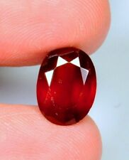 3.0Ct Ring Size Top Natural Red Hessonite Garnet Oval Cut Cabochon Gemstone A201