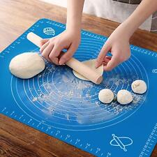 No Stick Silicone Baking Mat Roll Pad Cake Dough Mat Pastry Clay Fondant 45*64cm