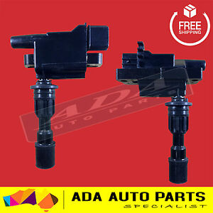 2 x BRAND NEW IGNITION COIL FORD LASER KN KQ ZMD 1.6L 1