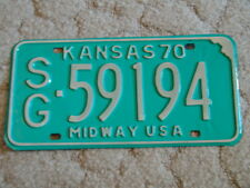 ANTIQUE 1970 KANSAS LICENSE TAG/PLATE - #59194   MIDWAY USA