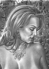 large original drawing SHANNON STEWART female NUDE erotic ART