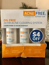 AcneFree Oil Free 24 HR Acne Treatment Kit- 3 Step Acne Clearing System