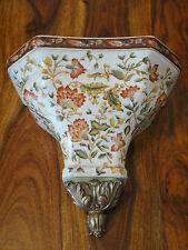 Wandkonsole Porzellan Bronze Antik Luxus Konsole Barock Jugendstil Edel Regal