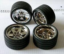 4x LEGO Technic Reifen Felge chrom silber 44771 15038 68.8 x 36 ZR 44772 8070