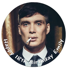 Peaky Blinders Tommy Shelby Personalised Cake Topper Edible Wafer Paper 7.5""