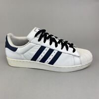 Adidas Superstar II 288202 Sneakers Trainers White Leather Lace Up Shoes UK10