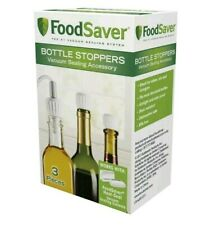 New listing Food Saver Bottle Stoppers 3-Pack - Preserve Wine, Oil, Vinegar, Infusions