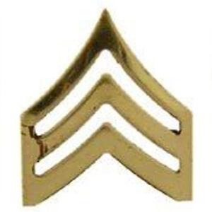 Metal Lapel Pin US Army Pin Emblem US Army Rank Sergeant Gold New