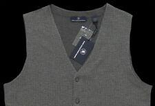 Men's HART SCHAFFNER MARX Gray Houndstooth Wool Cashmere Vest X-Large XL NWT WoW