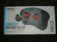 HOMEDICS SHIATSU MASSAGE PILLOW SP-6H-2 WITH SOOTHING HEAT NECK,SHOULDERS,BACK