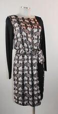 Apriori Kleid 38 Jerseykleid schwarz Foulardprint Polyester dress robe neu m E.