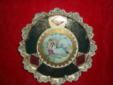 RARE ANTIQUE ROYAL VIENNA JEWELED PORTRAIT PLATE * CUPID CAPTIVATING GLORIA *