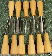11pc WOOD CARVING CHISEL TOOL SET New mini lathe tools Hardened Steel