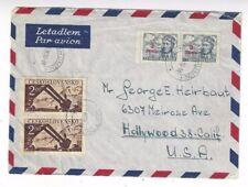 1950 Bohumin Czechoslovakia Airmail Hollywood, ESPERANTO Large Seal Collection
