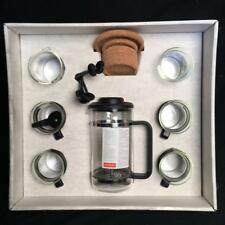 BODUM FRENCH PRESS COFFEE MAKER SET 4 CUPS STIRRERS/COASTERS/CREAMER NEW OPEN BX