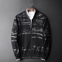 8XL Mens zip Cardigan Jackets Classic Casual baseball Coats Sweatshirt Oversized