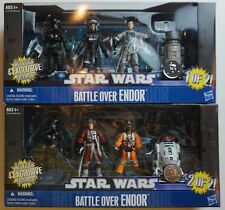 Battle Over Endor Pack Packs 1 of 2 AND 2 of 2 Star Wars Toys R US TRU Excl NEW