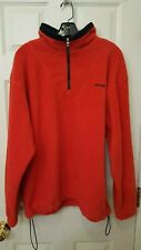 Ducati Shell Advance Motorcycle Men's Large Red 1/4 Zip Fleece Pullover NWOT