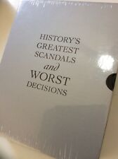 History's Greatest Scandals & Worst Decisions, Wright, Weir (HC) NEW, Slipcase