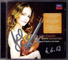 Julia FISCHER Signiert BACH Violinkonzerte BWV 1041-43 1060 CD Violin Concertos