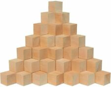 1-1/2� Wooden Cubes Unfinished Square Puzzle Making Birch Blocks by Woodpeckers