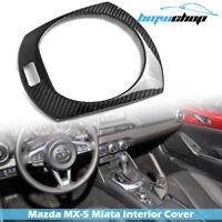 Fit For Mazda Carbon Roadster Interior Gear Shifter Trim Cover 2020 MX-5 Miata