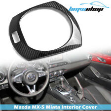 For Mazda Carbon Fiber Roadster Interior Gear Shifter Trim Cover 2017 MX-5 Miata