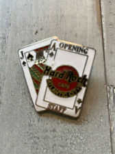 Hard Rock Cafe Atlantic City Opening Staff Playing Cards Pin