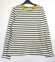 New Marks & Spencer Long Sleeve Cotton Striped Sweatshirt Top - Size 8 - 18