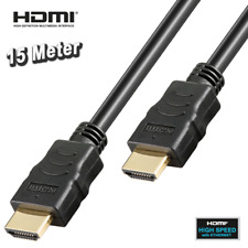 HIGH SPEED HDMI KABEL mit ETHERNET, 3D, Full HD, vergoldet, hochwertig - 15 m
