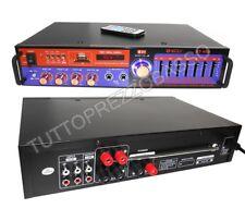 Amplificatore equalizzatore stereo audio bluetooth 2 ch mic karaoke hi fi usb