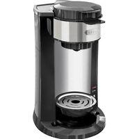 Bella - DualBrew Single-Serve Coffeemaker - Black/Silver