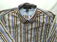 BANANA REPUBLIC Cotton Casual Long Sleeve Button Front Shirt Sz XL  Striped