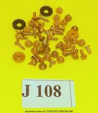 j108 jouef ho/oo original spares 50 random assortment brass screws/ rivets/gears