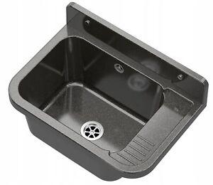Black basin sink laundry utility industrial garage kitchen outdoor indoor