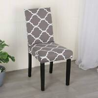 4X Dining Chair Seat Covers Pattern Slip Stretch Wedding Banquet Party Removable